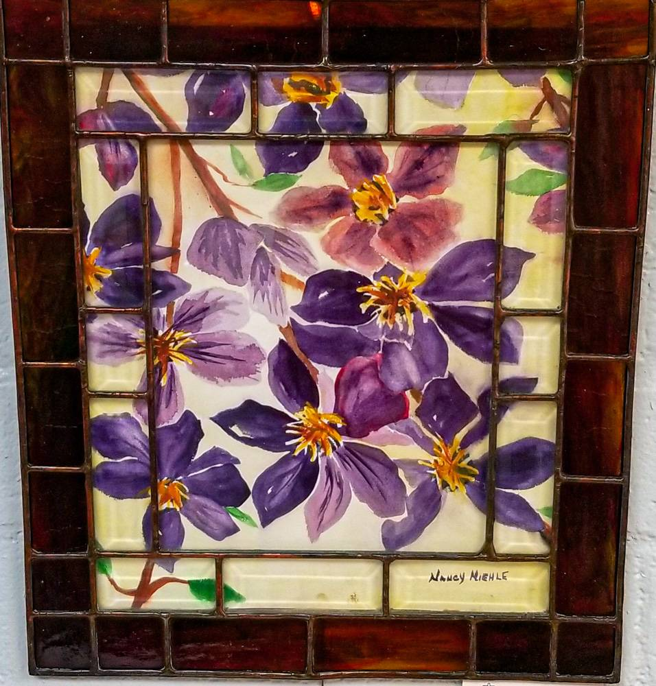 Purple Clementis by Nancy Miehle